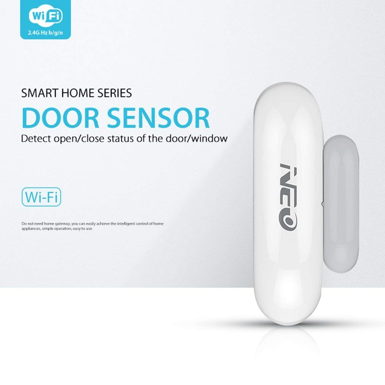 Dailyinshop NAS-DS01W WiFi Smart Door Window Sensor Plug & Play Monitoraggio remoto a casa