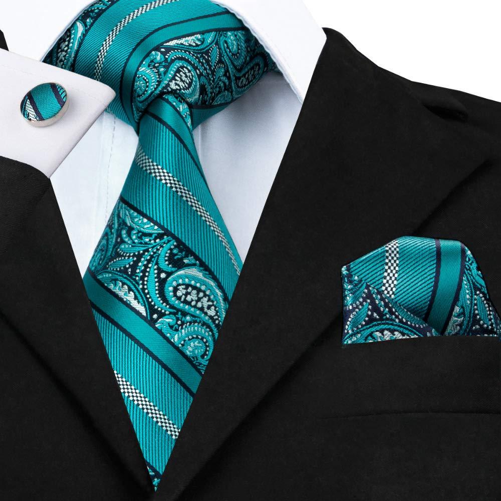 HYCZJH Azul Cielo Sólido 8,5 cm Seda Hombre Tejido Tie Corbata ...