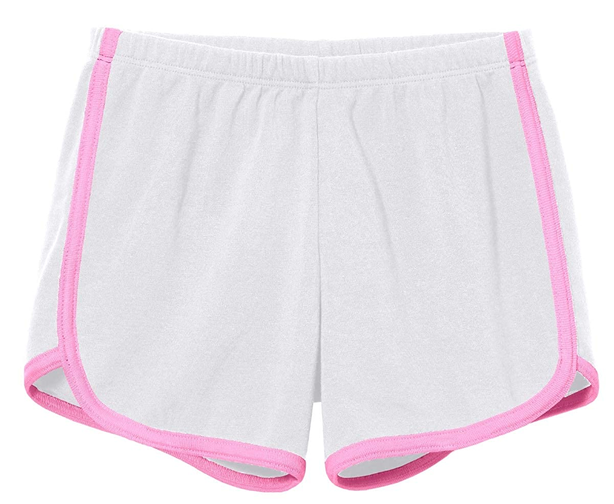 Made in USA City Threads Girls Running Workout Shorts Yoga Sport Fitness Short 100/% Cotton