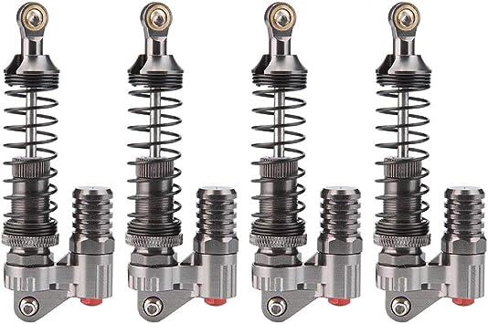 Drfeify Amortiguador de Vacío de Vagón de Escalada, 4 Piezas de Mecanizado CNC de Aluminio Amortiguador Compatible para Axial / SCX10 / D90 / TRX-4 / ...