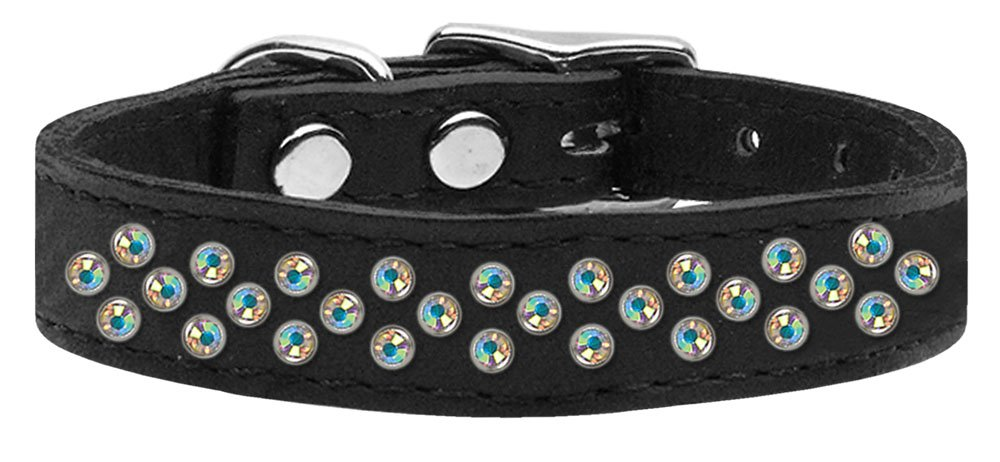 20\ Mirage Pet Products Sprinkles Aurora Borealis Crystal Leather Baby Dog Collar, 20
