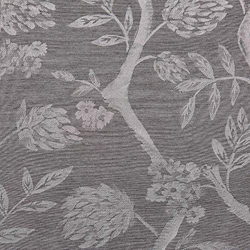 Exclusive Home Curtains Lamont Jacquard Window Curtain Panel Pair with Grommet Top, 54×108, Ash Grey, 2 Piece