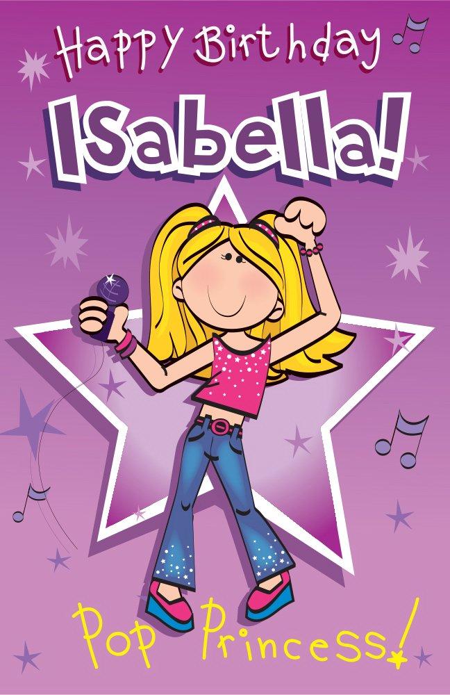 Amazon.com: Feliz cumpleaños Isabella – Cantando tarjeta de ...