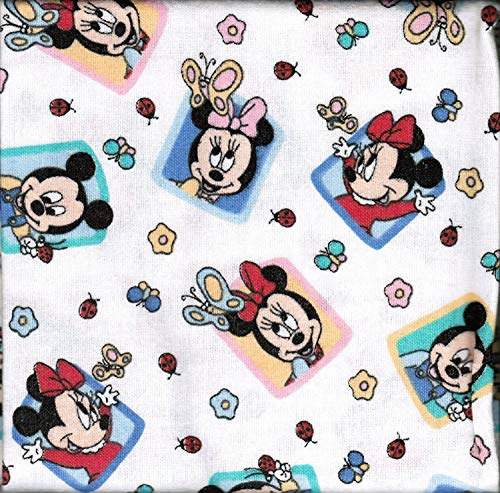 Disney Babies Mickey & Minnie Mouse Flannel Receiving Blankets-TWO blankets ()
