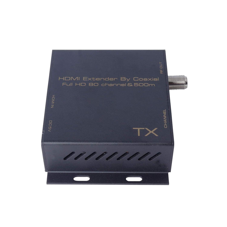 FidgetGear 同軸デジタルケーブル変換アダプタによるDVB-T変調器500mエクステンダへのHDMI EUプラグ EUプラグ  B07R23BPTY