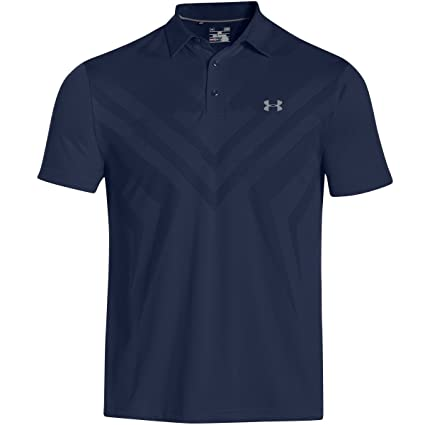 Under Armour Mens Armourvent Tips Polo Poison/Poison/Stealth Gray - Shirts & Tops