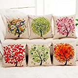 Sunlightsell The Tree of Life Cotton Linen Square Decorative Fashion Throw Pillow Cases (AA)