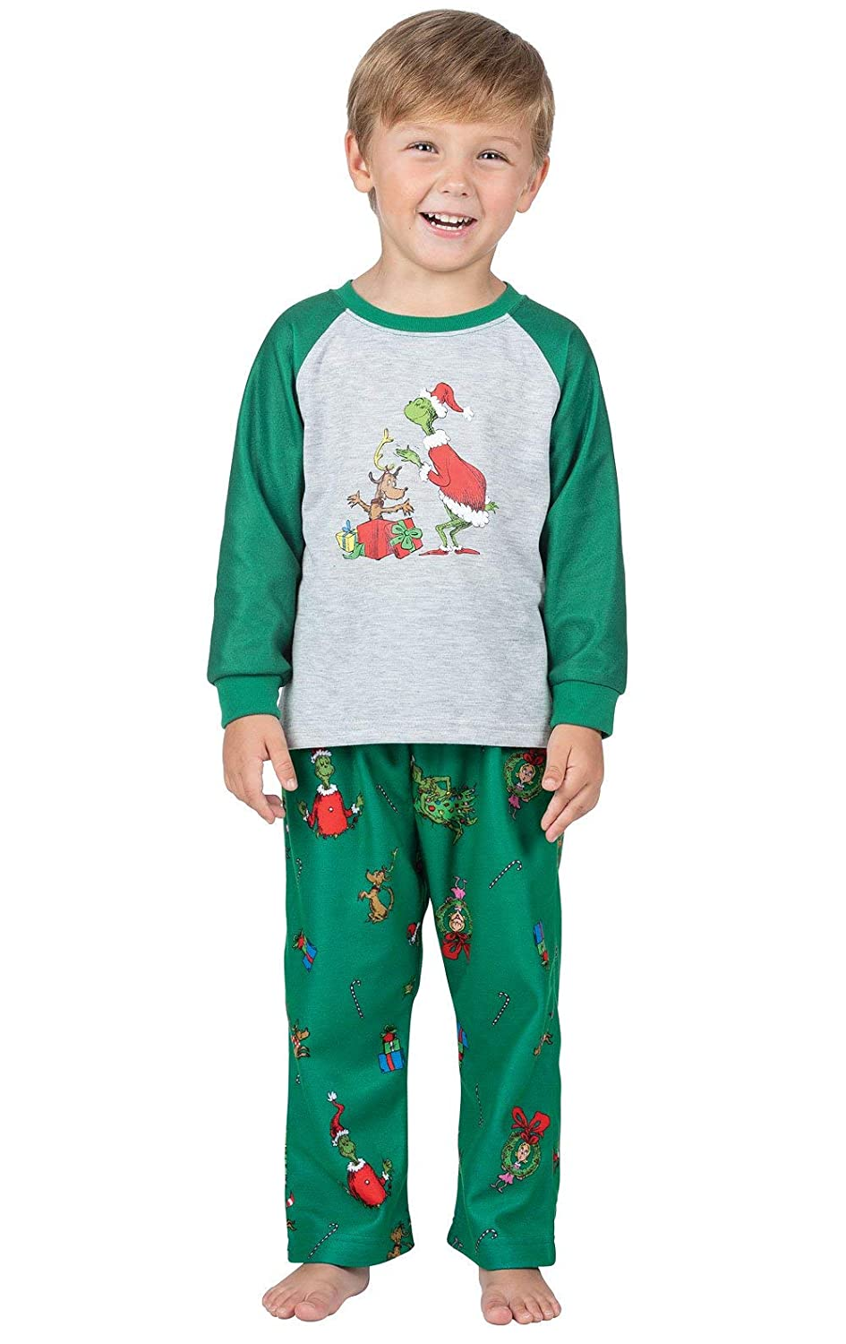 PajamaGram Dr Suesss The Grinch Infant and Toddler Pajamas