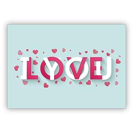 1 Hermosa tarjeta de amor romántica, tipográfica, tarjeta de ...