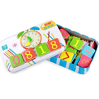 CHoppyWAVE Wooden Stick Magnetic Card Math Learning Counting Game Puzzle Education Kids Toy Multicolor: Home & Kitchen