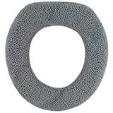 Toilet Seat Soft Warm-n-Comfy Soft Fabric Toilet Seat Cover