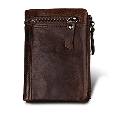 Hibate - Cartera para hombre Hombre Gris chocolate One_Size