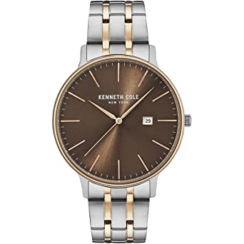 Kenneth Cole New York Mens Classic Quartz Stainless Steel Dress Watch, Color: