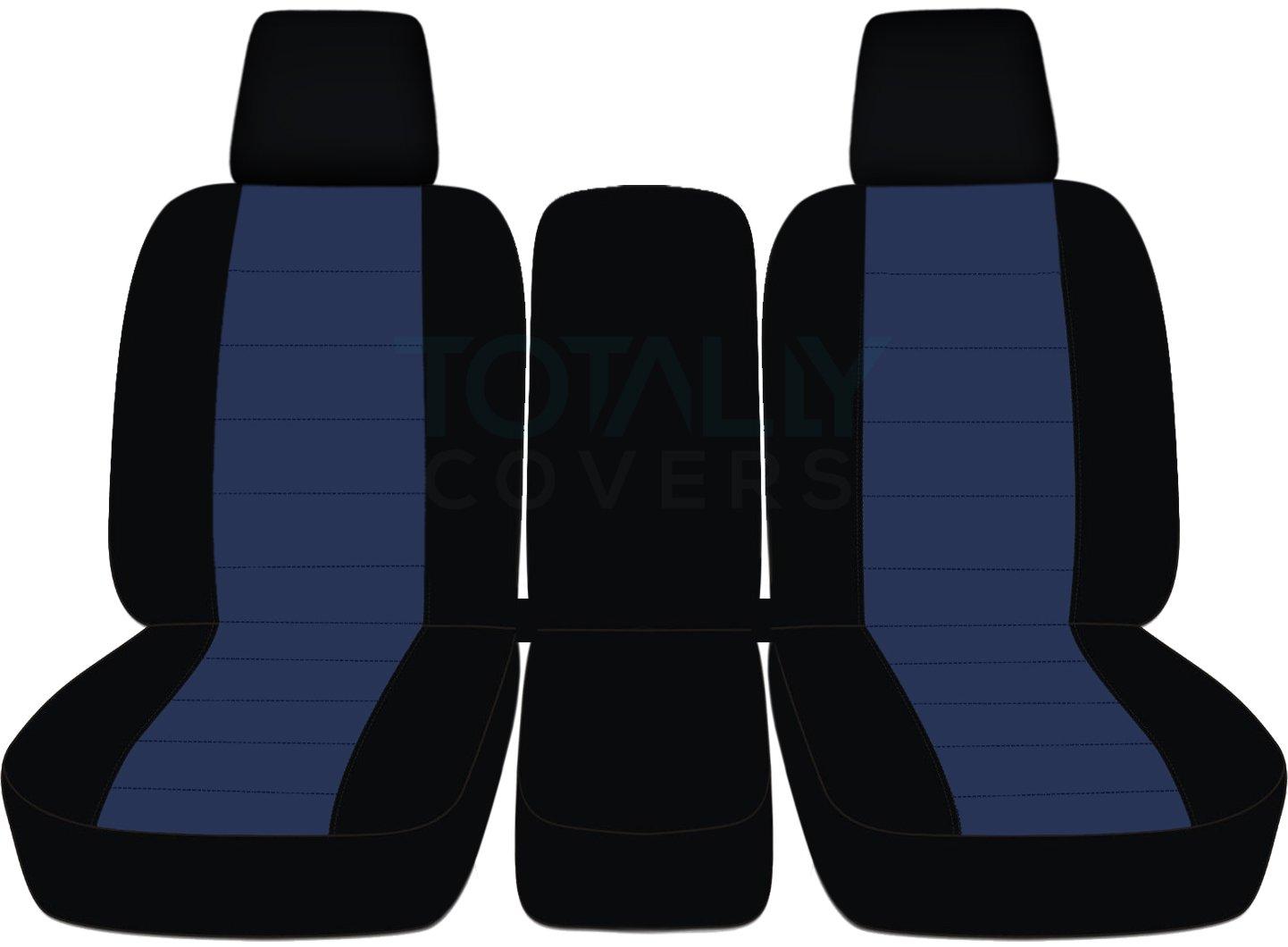 2004 – 2008フォードF - 150ツートンカラートラックシートカバー(フロント40 / 20 / 40分割ベンチ) センターコンソール/アームレスト、W / WO、シートベルト – フロント( 21色) 2005 2006 2007 Fシリーズf150 (右ハンドル車との互換性は保証いたしかねます) Solid Armrest ブルー TCCSCTT26-64-0408FF150424-SA B06XDVM2J3 Solid Armrest|ブラック/ネイビーブルー ブラック/ネイビーブルー Solid Armrest