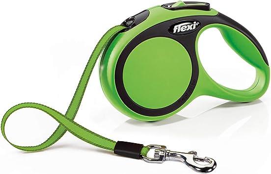 5 M Grey Small Lead Dog Leash Flexi New Comfort Retractable Tape Lead