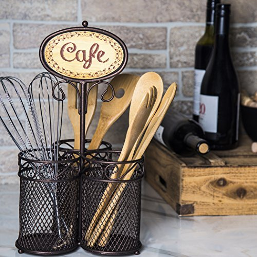 wire 3 sectional caddy with cafe flatware caddy organizer set for home parties