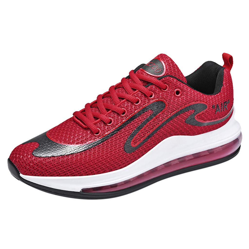 Mens Fashion Cushion Sneakers School Running Shoes US Size:7-11 Red