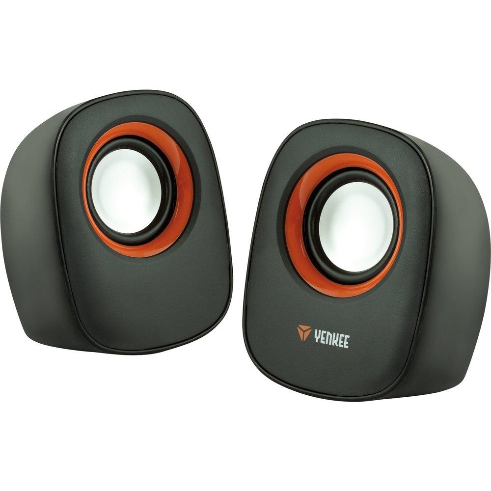 Yenkee YSP 2001 Stereo-Lautsprecher 2.0 schwarz/orange 45008116