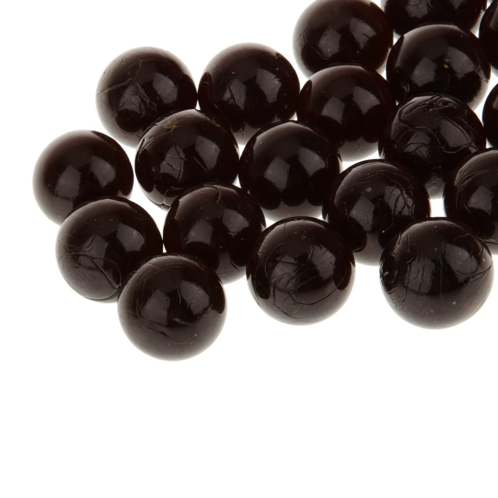 LoveinDIY 20pcs 16mm Marbles Black Great Gift for A Child Or A Big Kid