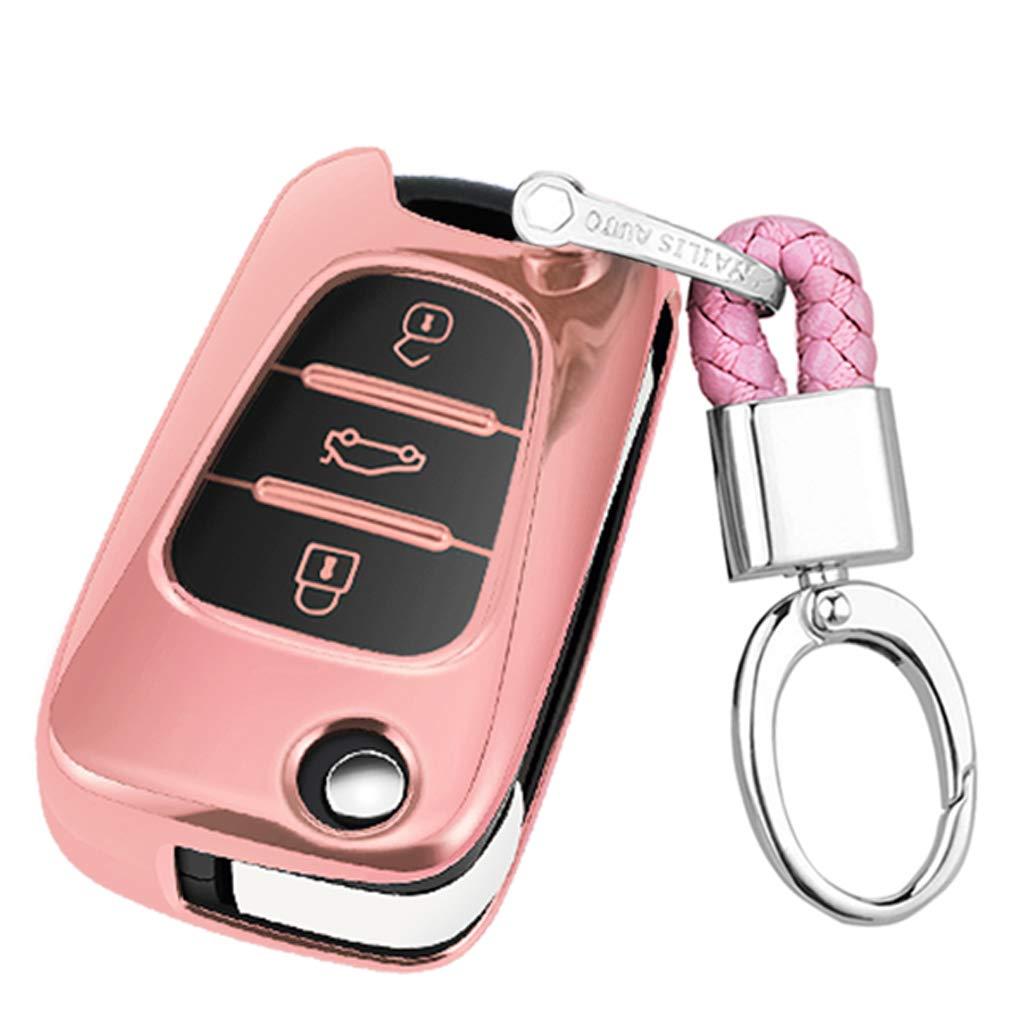 Suave Silicona Rojo Funda para Llave Smart Key para Coche Hyundai i20 i30 i35 iX20 iX35 Kia Rio Rondo Soul Sportage 3 Buttons Carcasa Protectora de