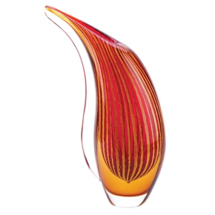 Amazon Gifts Decor Crimson Sunset Abstract Art Deco Glass