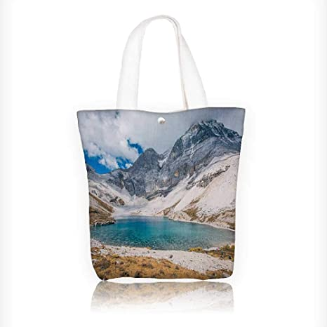df80d3934 Amazon.com: Canvas Shoulder Hand Bag lake in yad sichuan china Tote ...