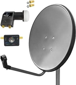 80 cm Digital HD satélite (Antena Parabólica gris Localizador ...