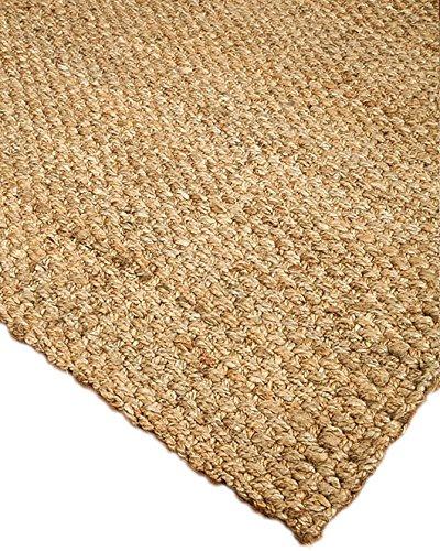 NaturalAreaRugs 100% Natural Fiber Handmade Basketweave Chunky Castillian Jute Rectangular Rug (8′ X 10′) Beige Review