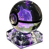 S-SO 3D Elf Inside K9 Crystal Ball Night Bedroom LED 7 Color Changing Desk Sleep Light (gg)