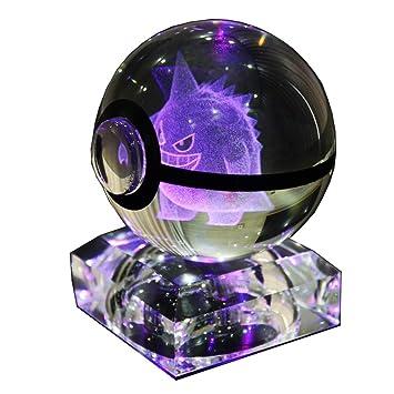 Amazon.com: s-so lindo K9 bola de cristal 3d Pokemon lámpara ...