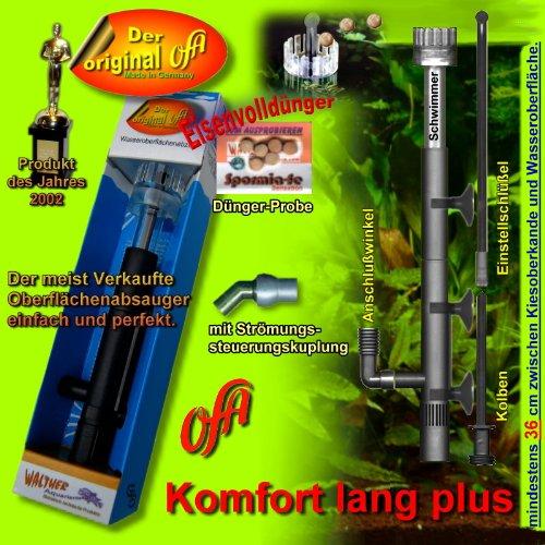 OFA comodidad largo Plus superficie conectora, Skimmer, para Aqua de wasserst. Superficie de grava/38/48cm