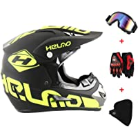 New_Soul 4pcs Cascos de Motocros Casco de Cross