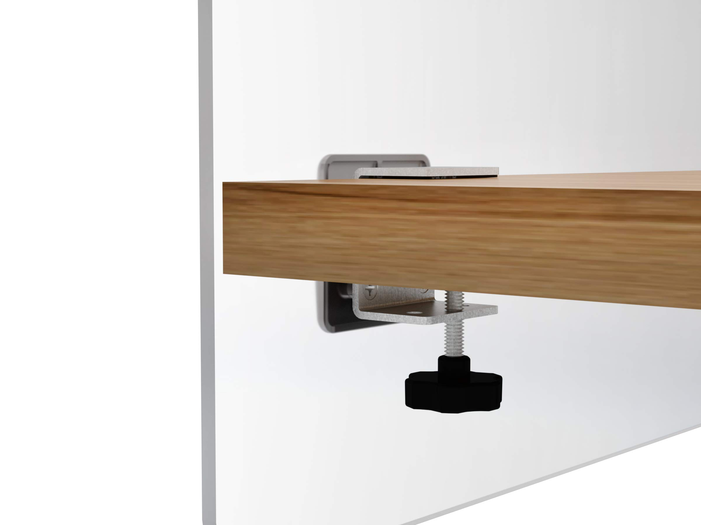 """VaRoom Privacy Partition, Frosted Acrylic Clamp-on Desk Divider – 30"""" W x 24""""H Privacy Desk Mounted Cubicle Panel by VaRoom (Image #2)"""