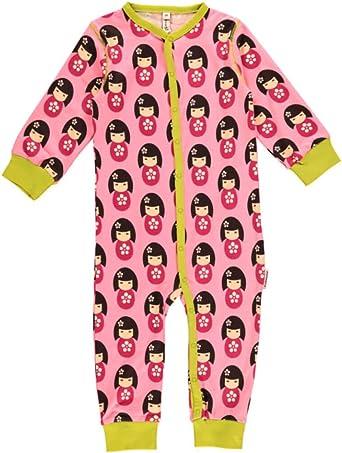 maxomorra Pelele bebé niña Pijama muñeca color rosa ...