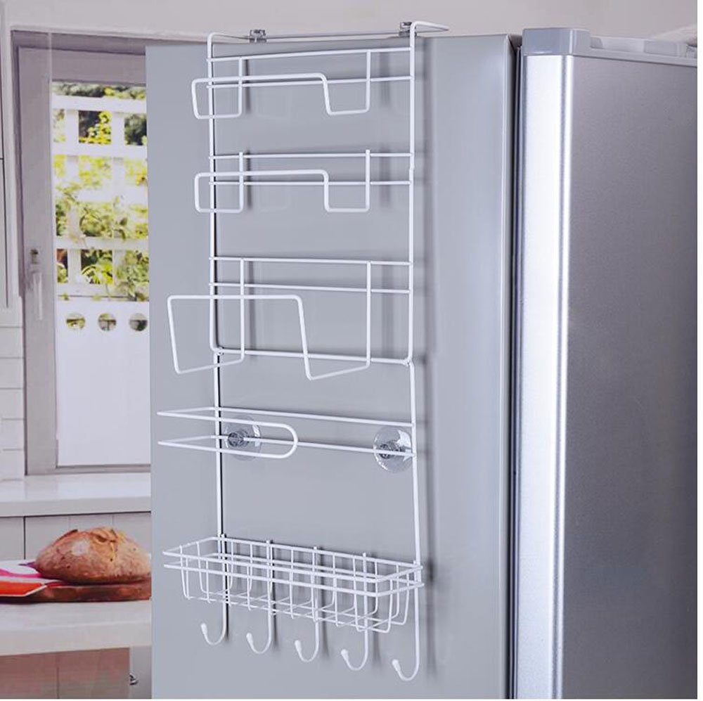 Hanging Wire rack kitchen shelf /Kitchen organizer/ kitchen storage rack that designed to hang on the refrigerator and built with 6 layers HomeGift