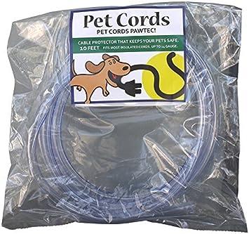 PetCords Protector de cable para perros y gatos, protege a tus mascotas de morder cables aislados de hasta 3 metros, sin aroma, inodoro: Amazon.es: ...