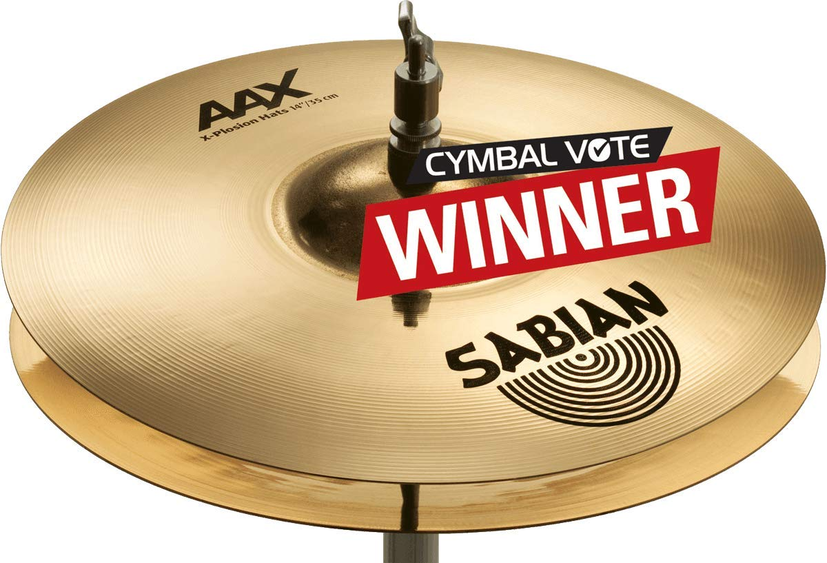 Sabian AAX 14'' X-Plosion Hi-Hat Cymbals, Brilliant Finish by Sabian