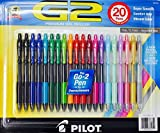 Pilot G2 Premium Gel Roller, Fine 0.7mm, 20 Retractable Pens