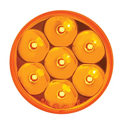 "GG Grand General 76585 Amber/Amber Light (2.5"" Low Profile Pearl 7 LED Dual/3Wires): Automotive"