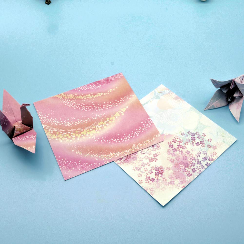 Vommpe Origami Paper Patterned Square Paper Folding Tool Craft Gift Supplies 15x15cm