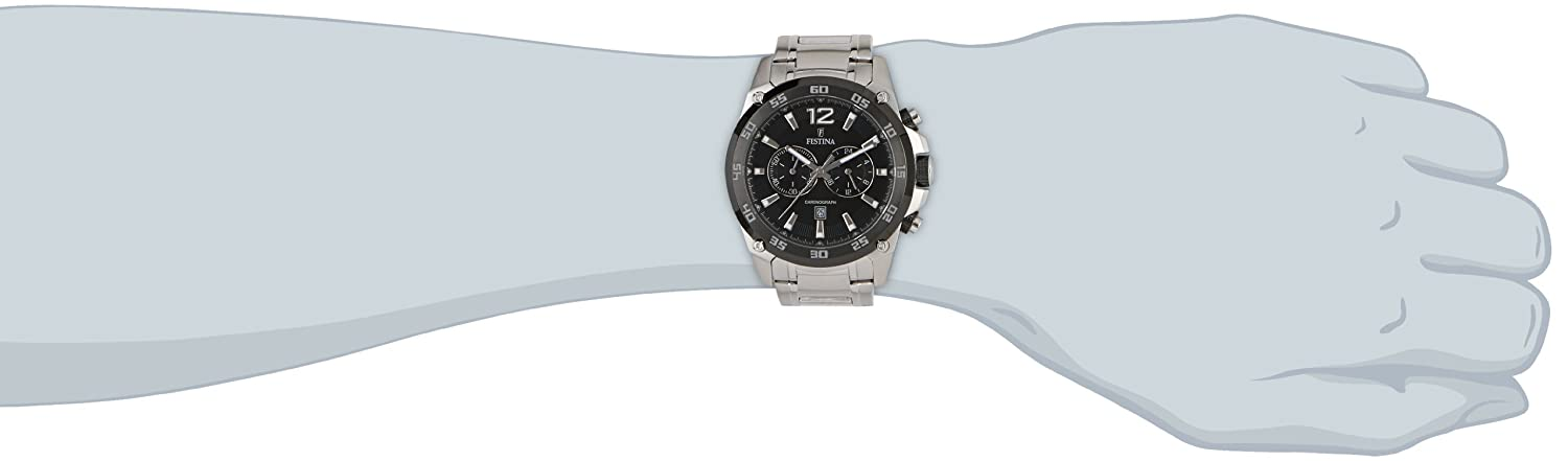 Amazon.com: Festina Chrono Sport F16680/4 Mens Chronograph Solid Case: Watches