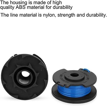4er-Packung TJW Ersatzspule f/ür Rasentrimmer 24 V und 40 V kabellose Trimmer Nylon Ersatzspule f/ür Ryobi 18 V schwarz // blau