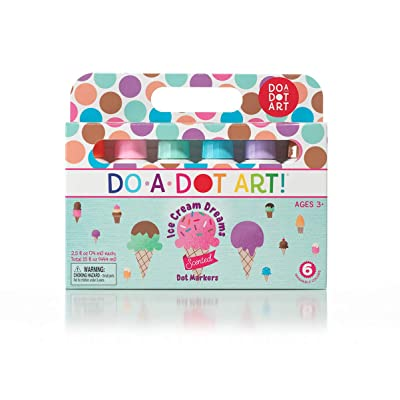 Ice Cream Scented Washable Dot Markers for Kids and Toddlers Set of 6 Pack by Do A Dot Art, The Original Dot Marker: Industrial & Scientific