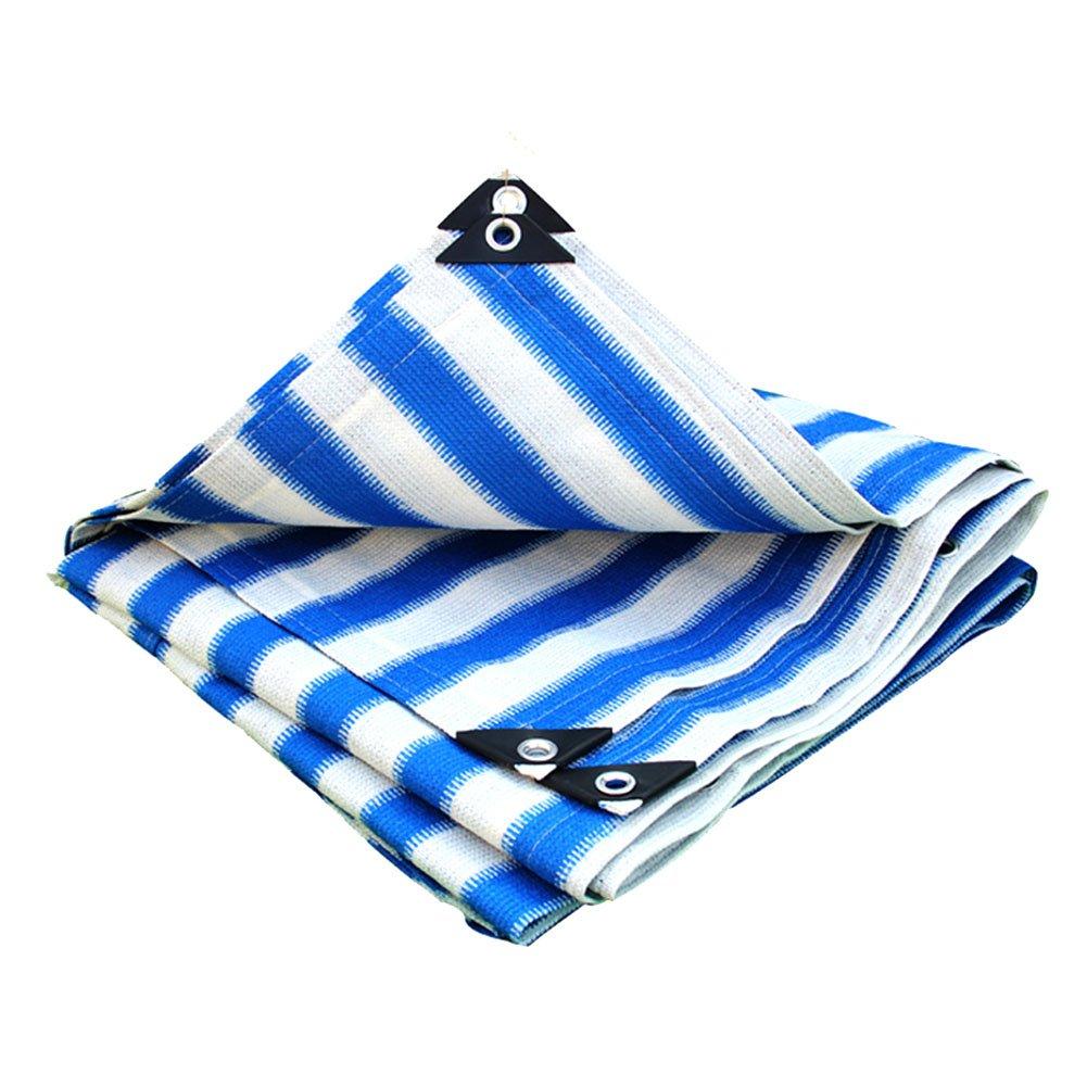 AJZGF Regenschutz Wasserdicht Sonnenschutznetz, Sonnenschirm, hinterlüfteter Autohaus, Sonnenschutz, Balkon, Garten, Blaume, Isolierung, Beschattungsnetz (Farbe   Blau Weiß, größe   3x6m)