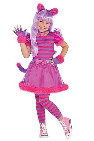 2ab3d2fdb01 Amscan Kids Purple Cheshire Cat Girls Fancy Dress Party Costume