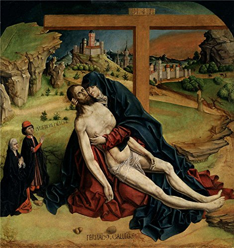 'Gallego Fernando Pieta Ca. 1470 ' Oil Painting, 20 X 21 Inch / 51 X 54 Cm ,printed On Polyster Canvas ,this Amazing Art Decorative Prints On Canvas Is Perfectly (Costume Closet Utah)