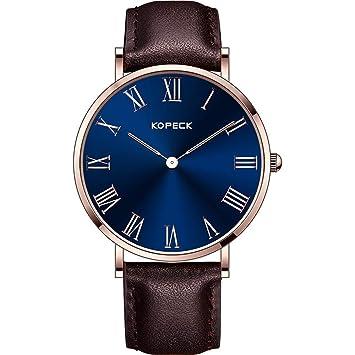North King Cuarzo Relojes Fecha Pantalla Grande Oscuro Azul Esfera Moda Banda de Tela Relojes para Adultos como un Regalo de cumpleaños: Amazon.es: Jardín