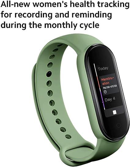 """Xiaomi Mi Band 5, Smart Band 5 versión global, reloj inteligente con pulsera de actividad, pantalla a color AMOLED de 1,1 """", monitor de frecuencia ..."""