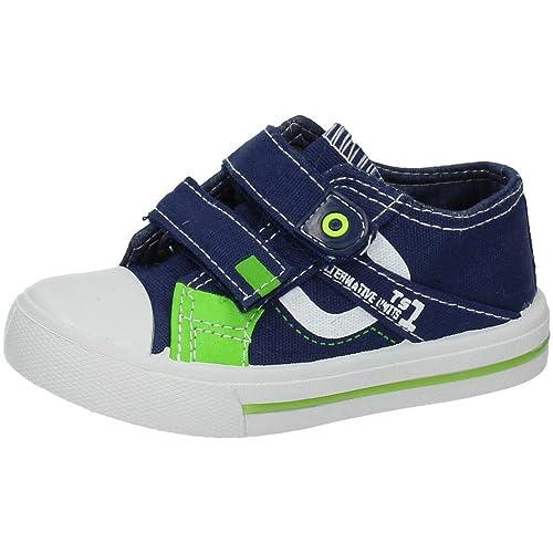 DEMAX K2801-18 Zapatilla Bamba Lona NIÑO Zapatillas Azul 33