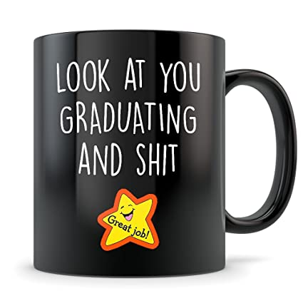 black graduation gifts for women and men graduates mug gifts for university high school